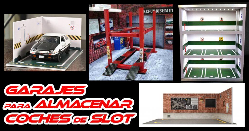 Garajes para almacenar Scalextric